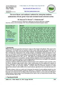 The use of linear and nonlinear methods for adsorption isotherm ...