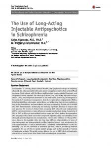 The Use of Long-Acting Injectable Antipsychotics in ...