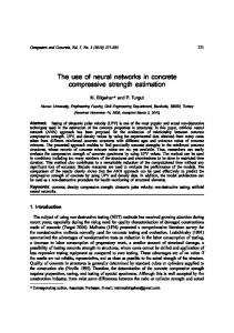 The use of neural networks in concrete compressive strength estimation