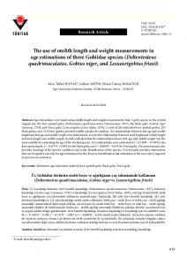 The use of otolith length and weight measurements in age ... - DergiPark