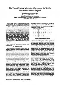 The Use of Pattern Matching Algorithms for Braille Documents Search ...