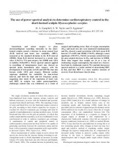 The use of power spectral analysis to determine cardiorespiratory ...