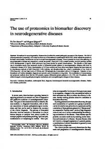 The use of proteomics in biomarker discovery in