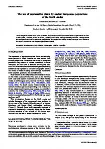 The use of psychoactive plants by ancient indigenous populations of