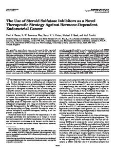 The Use of Steroid Sulfatase Inhibitors as a Novel Therapeutic ...