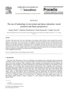 The use of technology in movement and dance education: recent ...