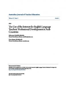 The Use of the Internet for English Language Teachers' Professional ...
