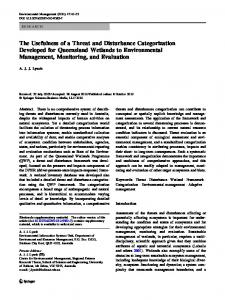 The Usefulness of a Threat and Disturbance ... - Springer Link