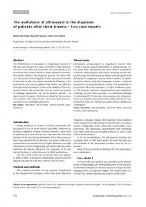 The usefulness of ultrasound in the diagnosis of