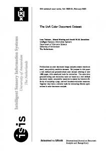 The UvA Color Document Dataset - Leon Todoran