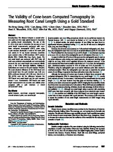 The Validity of Cone-beam Computed Tomography in Measuring Root ...