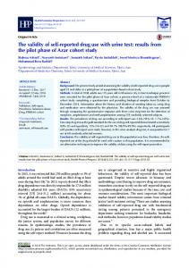 The validity of self-reported drug use with urine test: results from the