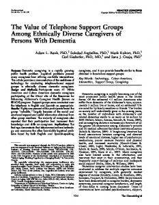 The Value of Telephone Support Groups Among Ethnically Diverse ...