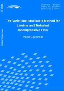 The Variational Multiscale Method for Laminar and ... - CiteSeerX