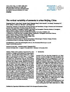 The vertical variability of ammonia in urban ... - Atmos. Chem. Phys