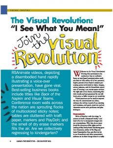 The Visual Revolution: I See What You Mean! - Eris Weaver