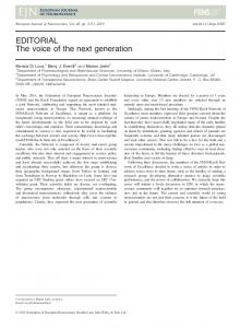 The voice of the next generation - Wiley Online Library