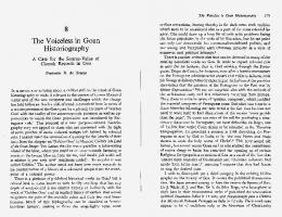 The Voiceless in Goan Historiography - ReCiL