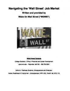 The Wake on Wall Street (WOWS) Guide - Career and Professional ...