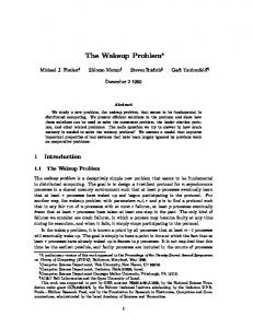 The Wakeup Problem - Semantic Scholar