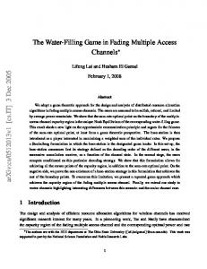 The Water-Filling Game in Fading Multiple Access Channels