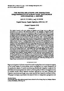 THE WATER RELATIONS AND IRRIGATION REQUIREMENTS ... - Core