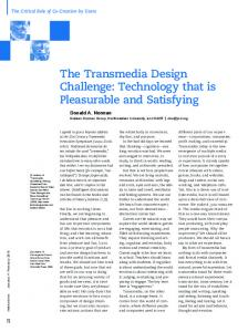 THE WAY I SEE IT The transmedia design challenge ...