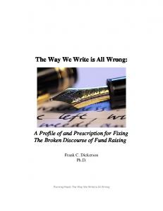 The Way We Write is All Wrong