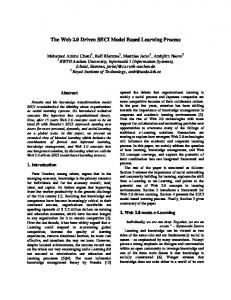 The Web 2.0 Driven SECI Model Based Learning Process
