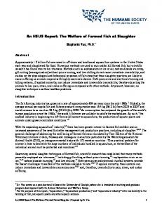 The Welfare of Farmed Fish at Slaughter - The Humane Society of the ...