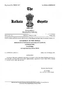 The West Bengal Panchayat Elections Act, 2003 - West Bengal State ...
