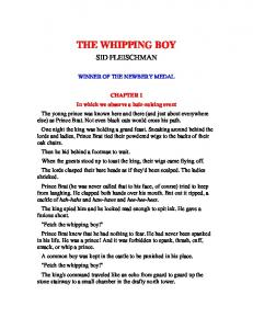 THE WHIPPING BOY - CSIR