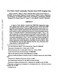 The White Dwarf Luminosity Function from SDSS Imaging Data