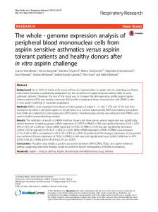 The whole - genome expression analysis of peripheral blood ...
