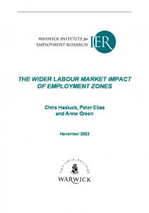 The wider labour market impact of Employment Zones