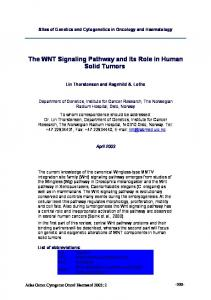 The Wnt signaling pathway - Atlas of Genetics and Cytogenetics in ...