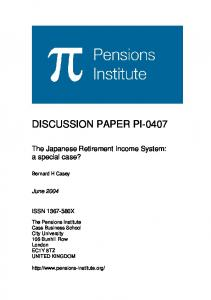 the Workers Pension Insurance - Pensions Institute