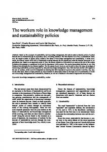 The workers role in knowledge management and