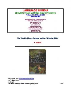 The World of Percy Jackson and the Lightning Thief