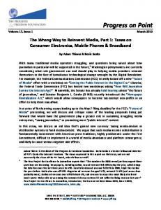 The Wrong Way to Reinvent Media, Part 1: Taces on ... - SSRN