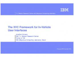 The XVC Framework for In-Vehicle User Interfaces - Amazon Web ...