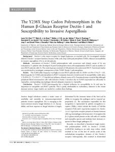 The Y238X Stop Codon Polymorphism in the Human ... - Oxford Journals