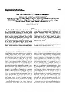 the young's modulus of feather keratin - Journal of Experimental Biology