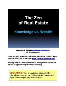 The ZEN of Real Estate Investing - HousingAlerts.com