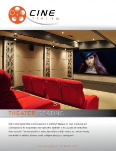 THEATER SEATING - CINE Living