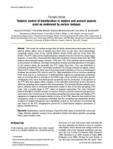 Thematic Article Tectonic control of bioalteration ... - users.miamioh.edu