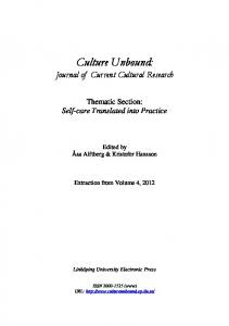 Thematic Section - Culture Unbound