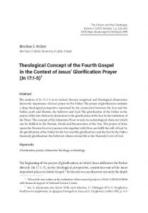 Theological Concept of the Fourth Gospel in the ...