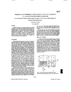 Theoretical and experimental investigations of ... - IEEE Xplore