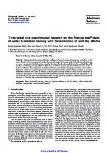 Theoretical and experimental research on the friction coefficient of